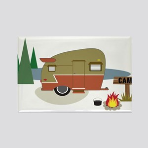 Camping Trailer Rectangle Magnet