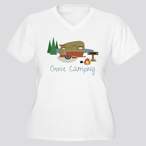 Gone Camping Women's Plus Size V-Neck T-Shirt