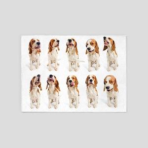Beagle Grimaces - 5'x7' Area Rug