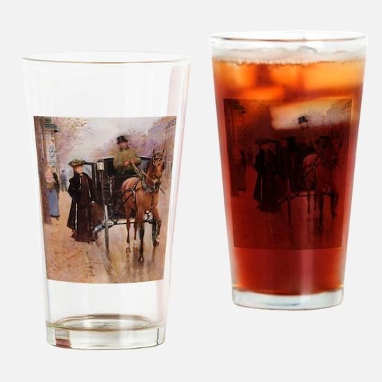 A Lady An A Man Drinking Glass