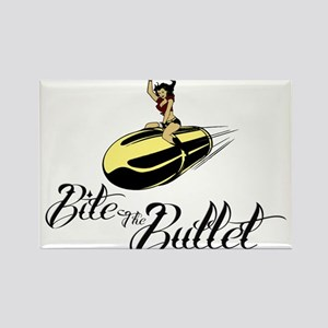 Bite the Bullet - Cowgirl Rectangle Magnet