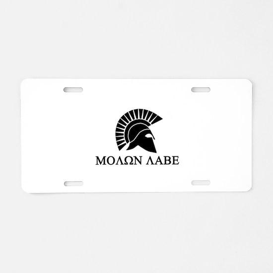 Molon Labe Warrior Aluminum License Plate