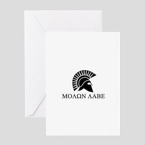 Molon Labe Warrior Greeting Card