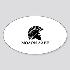 Molon Labe Warrior Sticker (Oval)