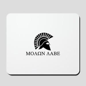 Molon Labe Warrior Mousepad