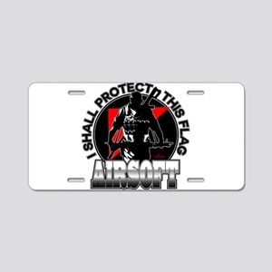 Protect Flag Airsoft Aluminum License Plate