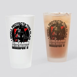 Protect Flag Airsoft Drinking Glass