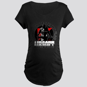 Protect Flag Airsoft Maternity Dark T-Shirt