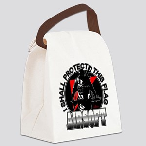 Protect Flag Airsoft Canvas Lunch Bag