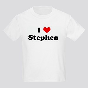 I Love Stephen  Kids T-Shirt