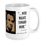 With malice toward none Large Mug