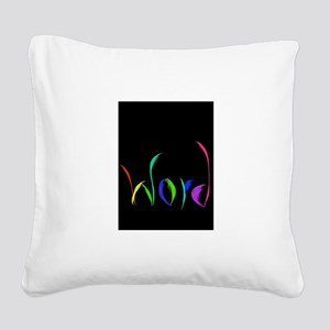 Word Square Canvas Pillow