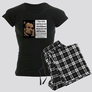 You Were Right and I Was Wrong Women's Dark Pajama
