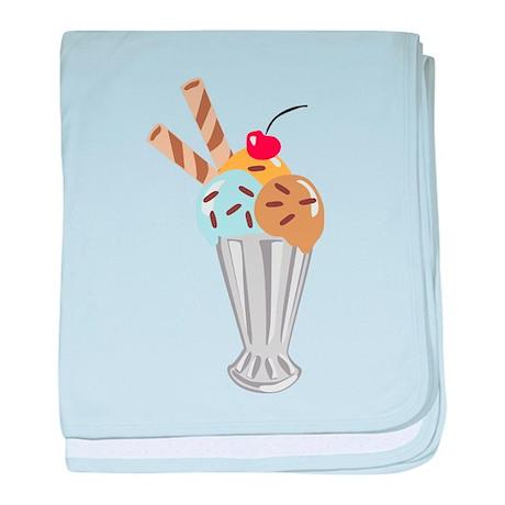 Ice Cream Sundae baby blanket