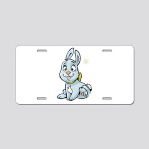 Blue Bunny Aluminum License Plate