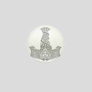Mjolnir Silver Mini Button