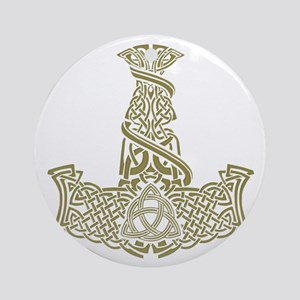 Mjolnir Gold Ornament (Round)
