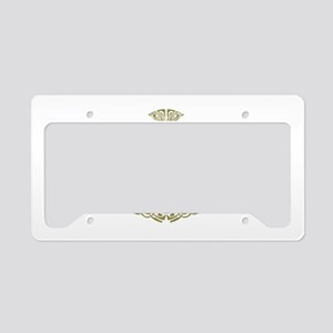 Mjolnir Gold License Plate Holder
