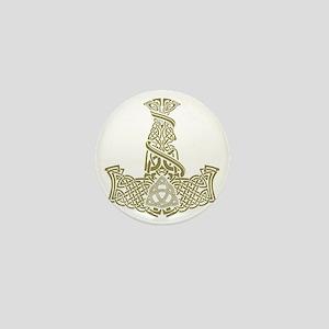 Mjolnir Gold Mini Button
