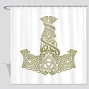 Mjolnir Gold Shower Curtain