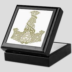 Mjolnir Gold Keepsake Box