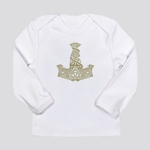 Mjolnir Gold Long Sleeve Infant T-Shirt