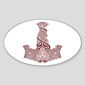 Mjolnir Ruby Sticker (Oval)