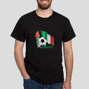 Italian Soccer Pride Dark T-Shirt