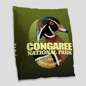Congaree NP Burlap Throw Pillow