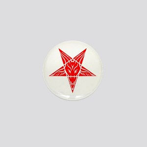 Baphomet Pentagram Red Mini Button