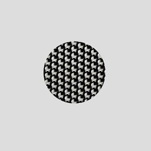 Monochrome Stroller Pattern. Mini Button