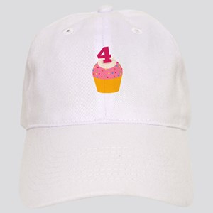 4th Birthday Cupcake Cap