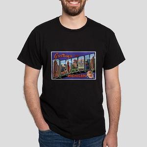 Detroit Michigan Greetings (Front) Dark T-Shirt