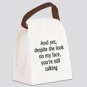 still talking 2 Canvas Lunch Bag