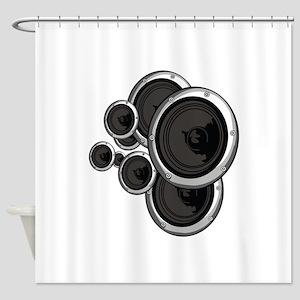Speaker Wall Shower Curtain