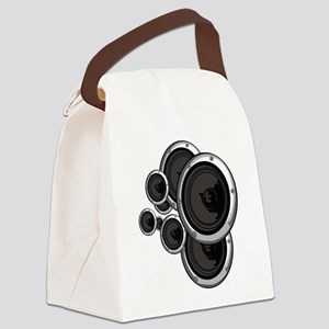 Speaker Wall Canvas Lunch Bag
