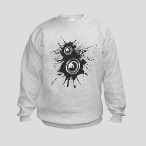 Speaker Splatter DJ Kids Sweatshirt