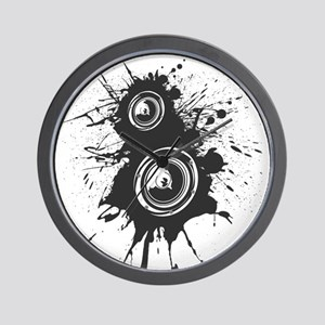 Speaker Splatter DJ Wall Clock