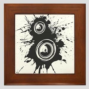Speaker Splatter DJ Framed Tile