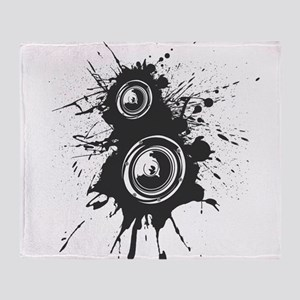 Speaker Splatter DJ Throw Blanket