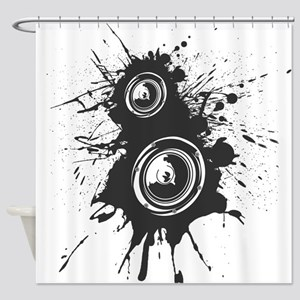 Speaker Splatter DJ Shower Curtain