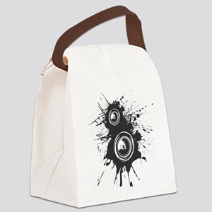 Speaker Splatter DJ Canvas Lunch Bag