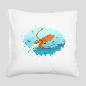 Squid Square Canvas Pillow