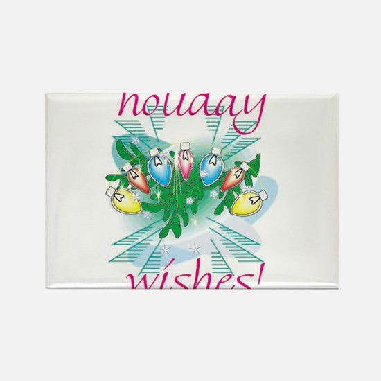 HOLIDAY WISH LIGHTS Rectangle Magnet