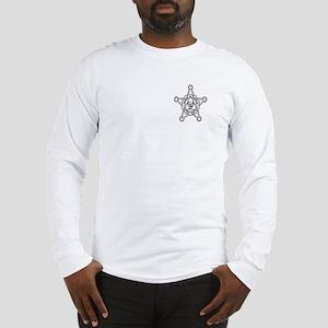 Zombie Secret Service Badge Long Sleeve T-Shirt