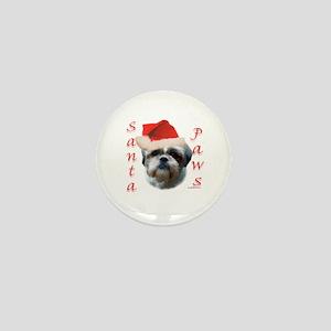 Santa Paws Shih Tzu Mini Button