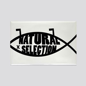 Natural Selection Dead Fish Rectangle Magnet