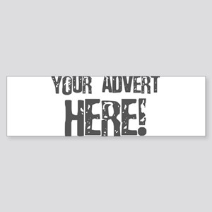 Your Advert Here Sticker (Bumper)