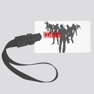 Kill The Zombies Large Luggage Tag