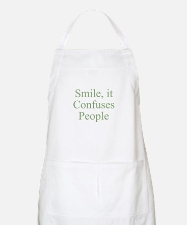 Smile, it Confuses People BBQ Apron